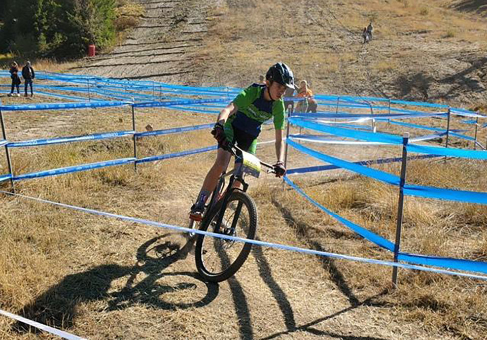 Andrew Tilton comes through the finish on his first lap during State at Bogus Basin last year. | Photo by Shelly Stanger